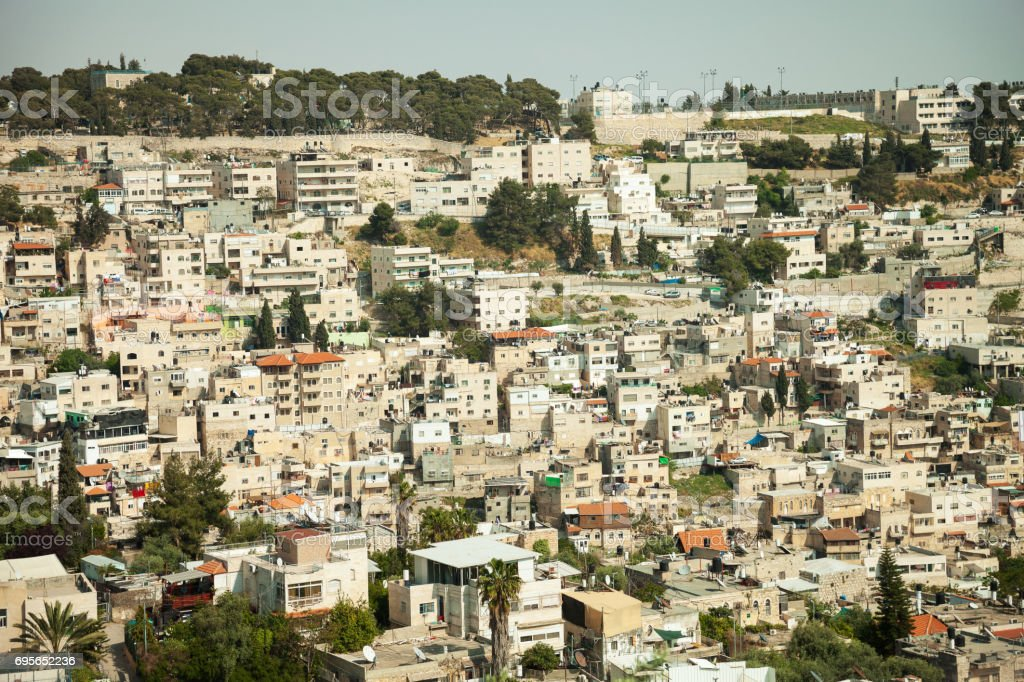 Silwan Village stock photo
