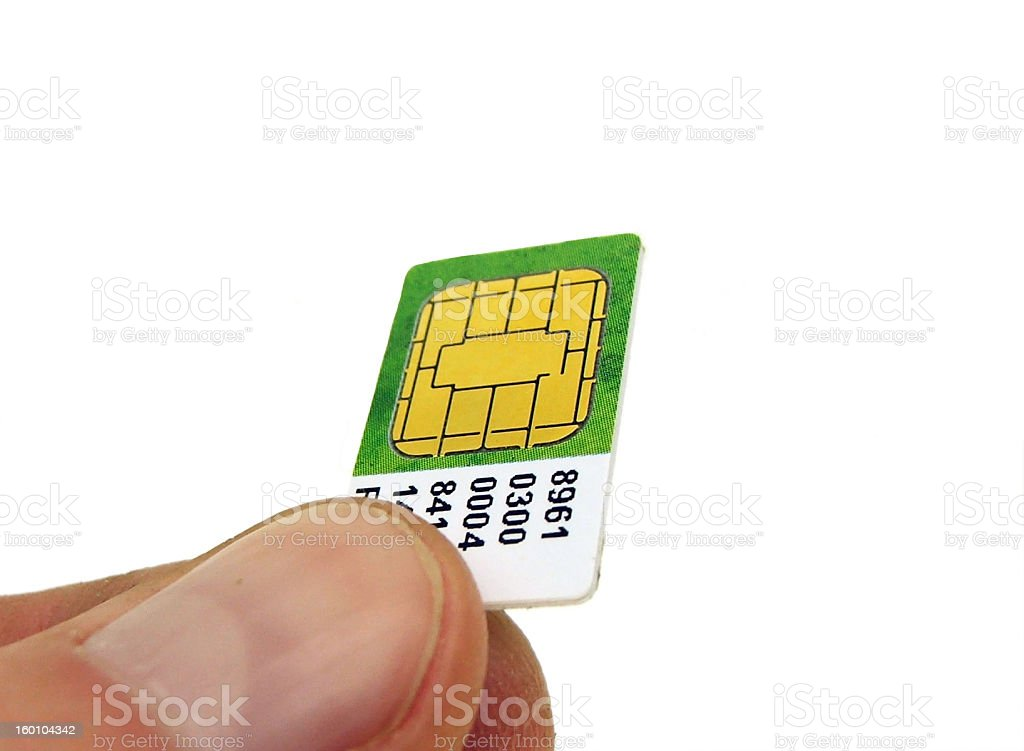 Sim Card royalty-free stock photo