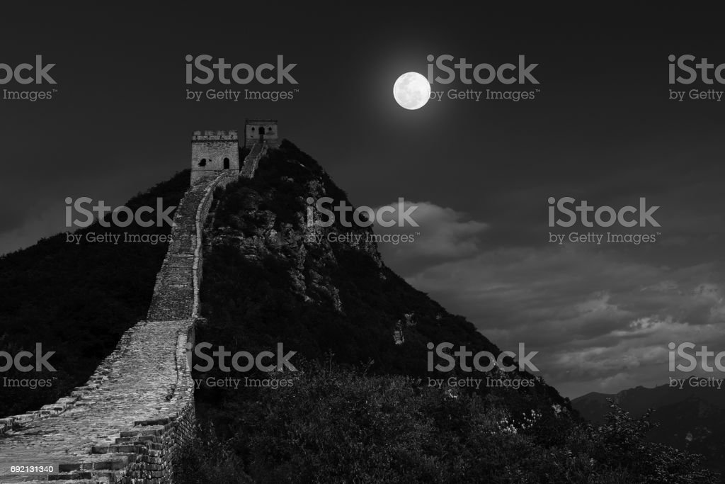 simatai ancient great wall stock photo