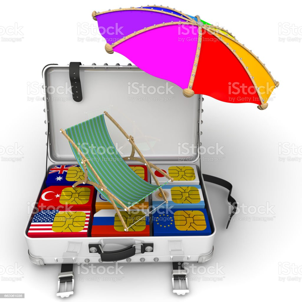 SIM-cards for travel. Concept stock photo