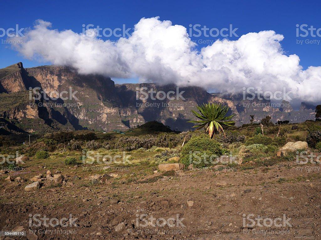 Simien mountains, Ethiopia stock photo