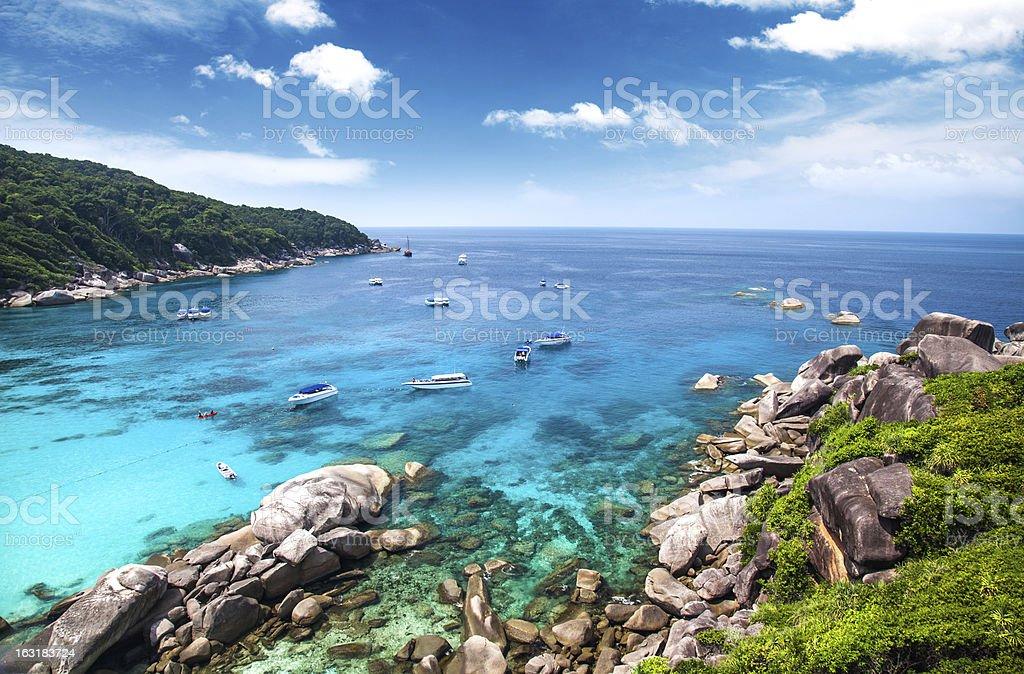 Similan islands. Thailand stock photo