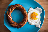 Simit and egg