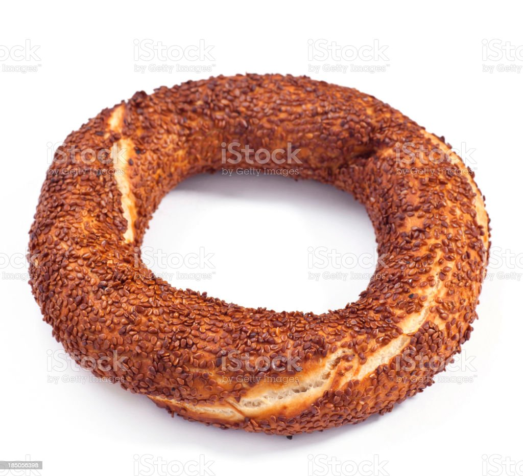 Simit as a Turkish Fast Food stock photo