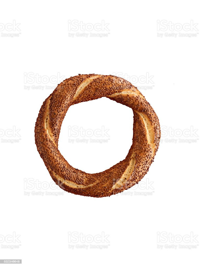 Simit(clipping path) stock photo