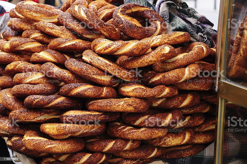 simit; turkish bagel stock photo