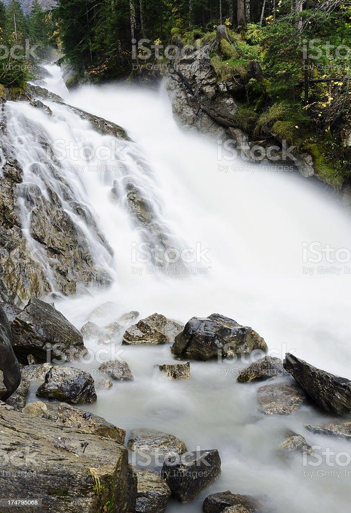 Simmenfalle waterfall in Lenk Switzerland royalty-free stock photo