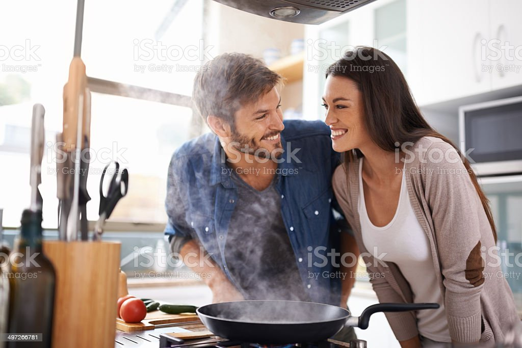 Simmer down you two stock photo