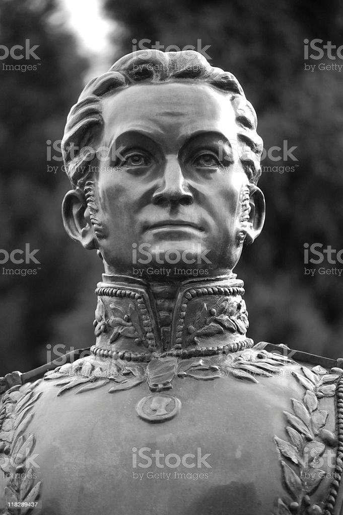 Simon Bolivar royalty-free stock photo
