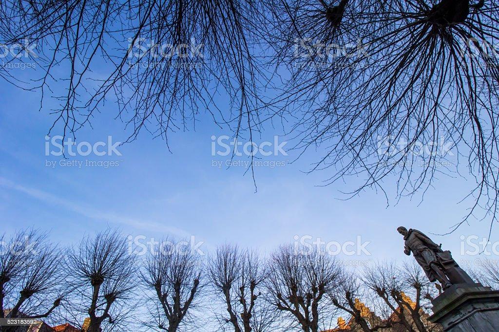 Simon Stevin Square stock photo