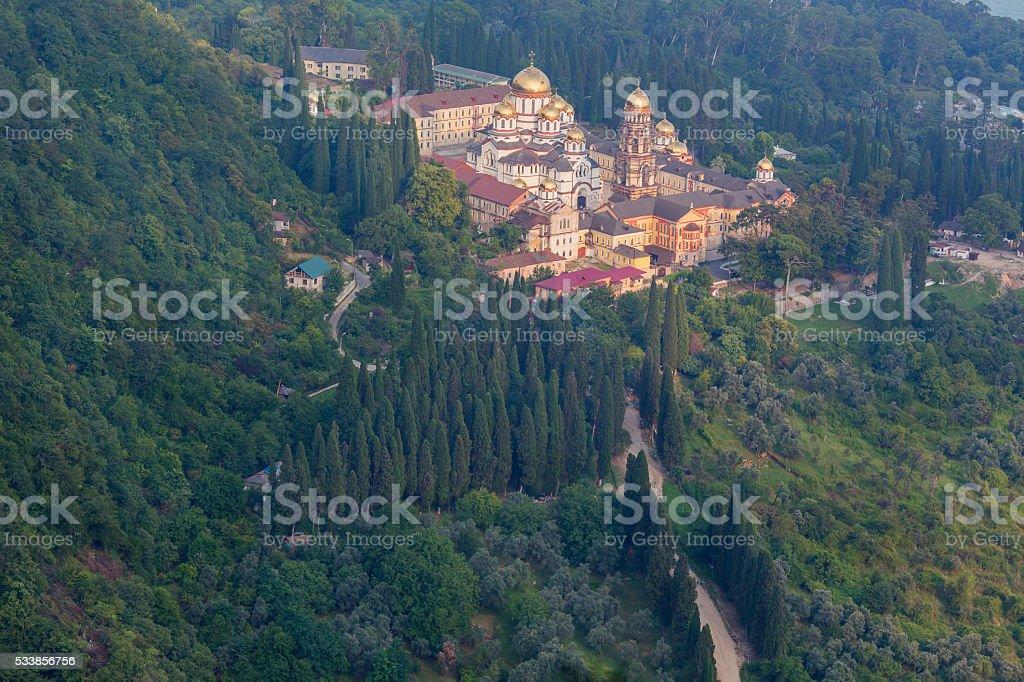 Simon the Zealot monastery at New Athos stock photo