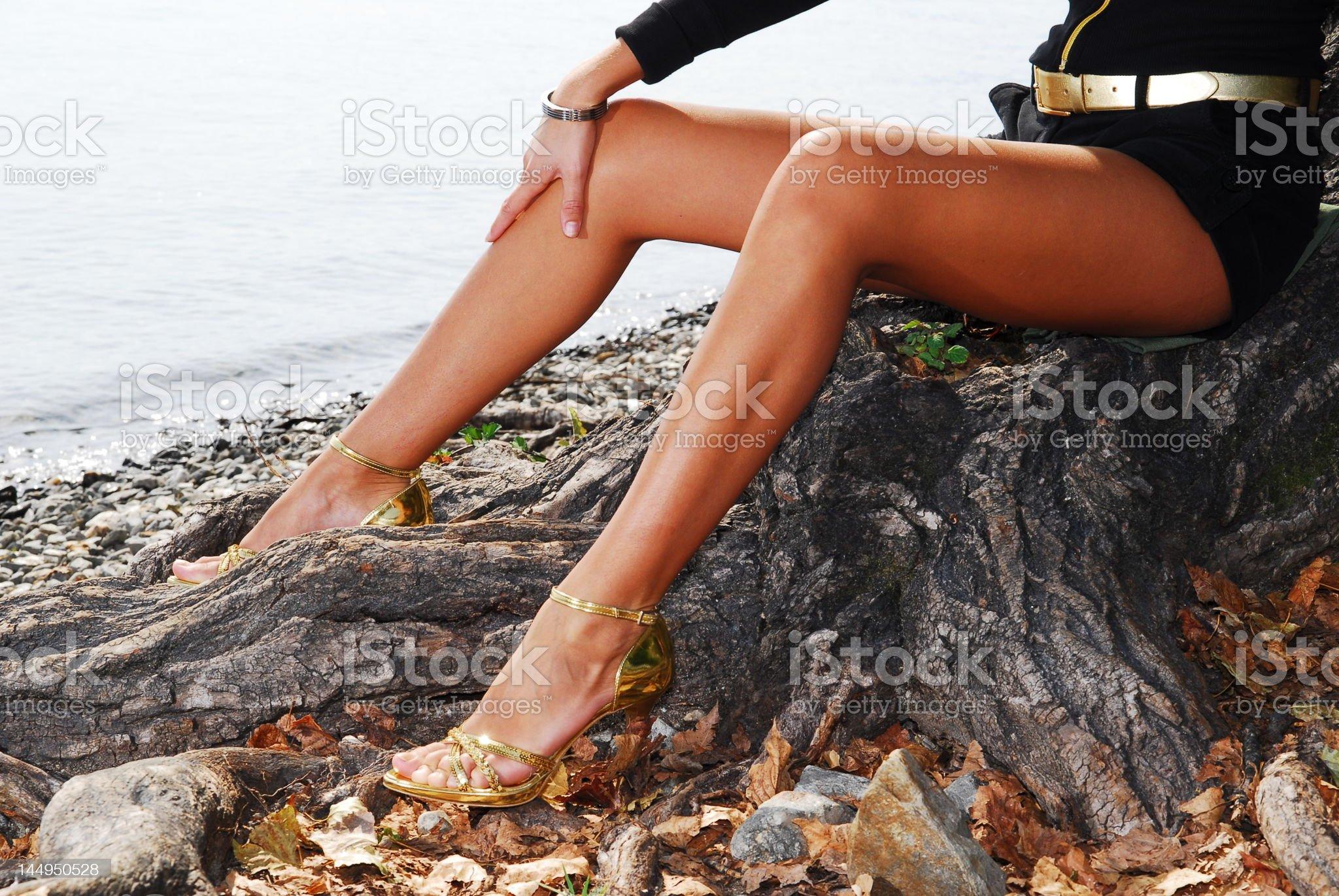 simona on the beach 02 royalty-free stock photo