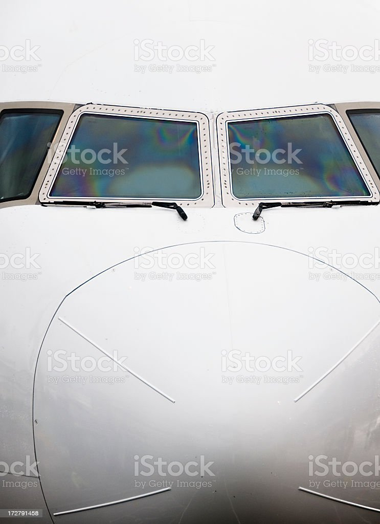Simple Aircraft Nose Close-Up royalty-free stock photo