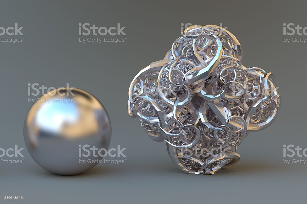 Simple and complex. stock photo