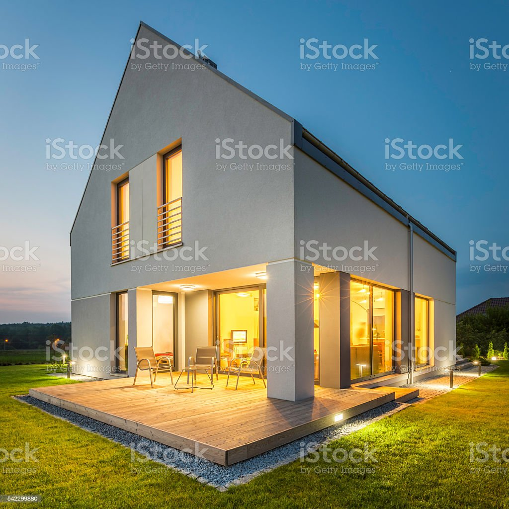 Simple and stylish home stock photo