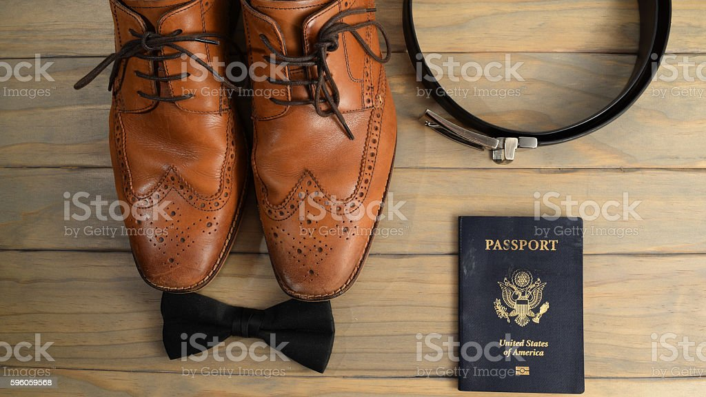 Simple Arrangement of Business travel objects stock photo