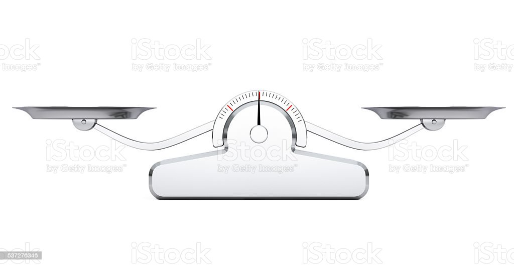 Simple Balance Scale. 3d Rendering stock photo