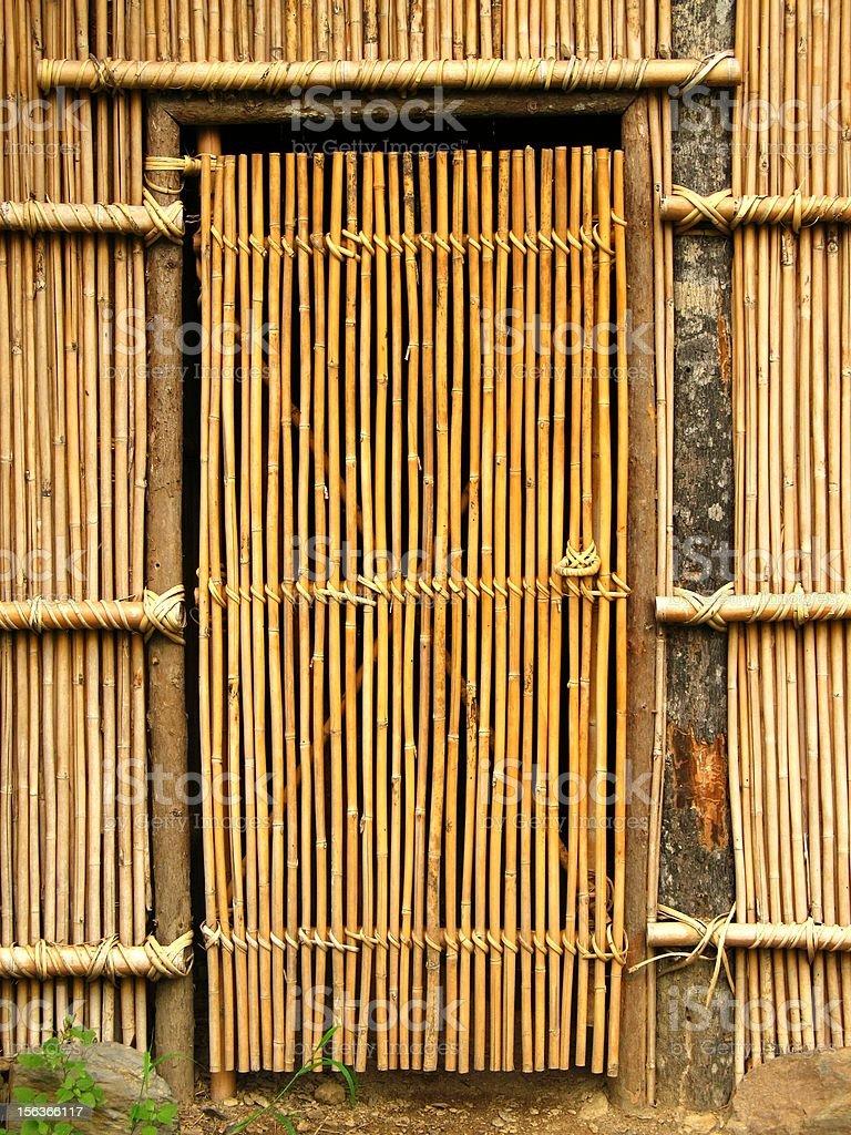 Simple Bamboo Door royalty-free stock photo