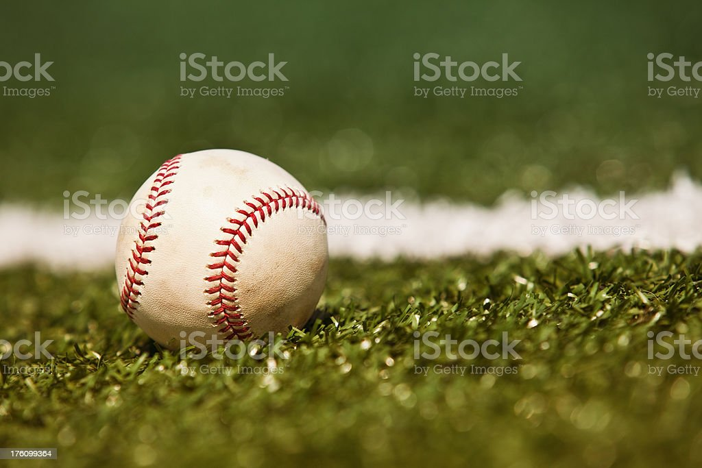Simple baseball background on the diamond royalty-free stock photo