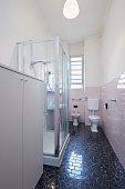 Simple bathroom interior in normal apartment