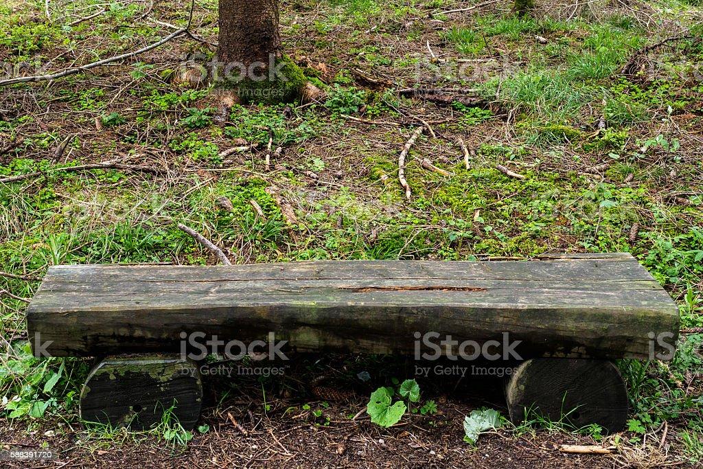 Simple bench stock photo