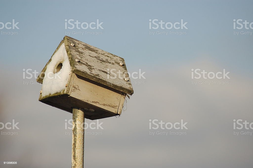 Simple Bird House royalty-free stock photo