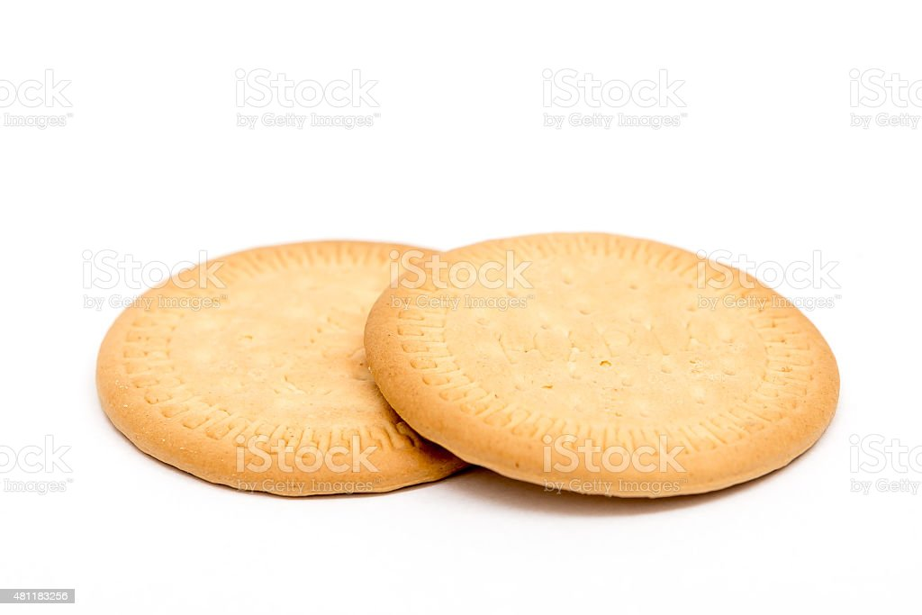 simple biscuits isolated on white stock photo