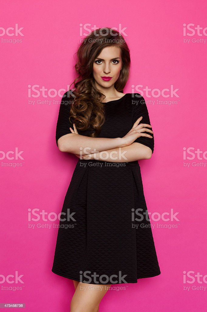 Simple Black Dress stock photo