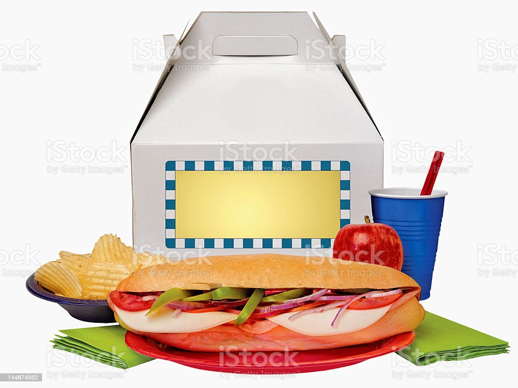 Simple Box Lunch stock photo