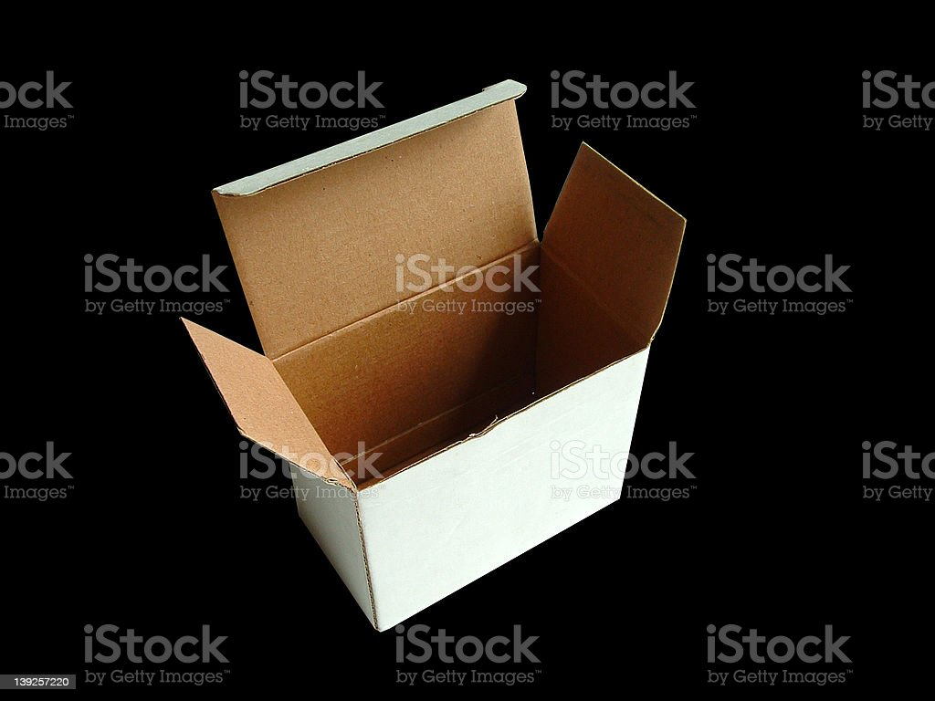Simple Box with Clipping Path stock photo