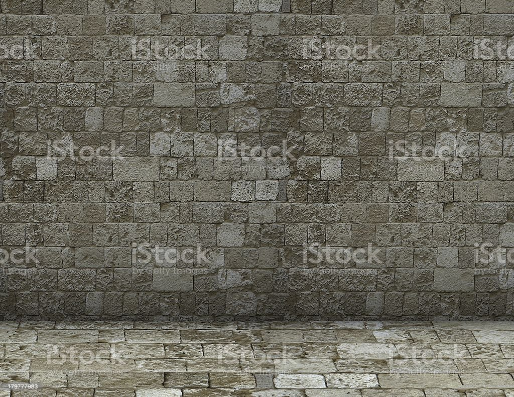 Simple brick background royalty-free stock photo