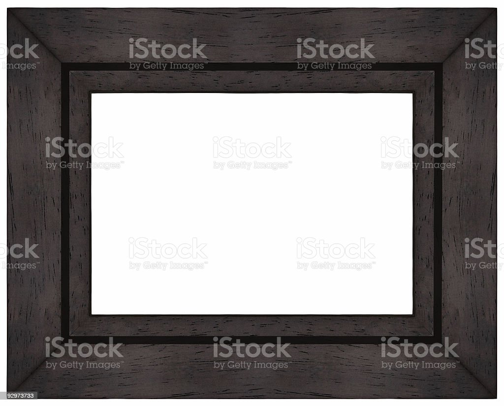 Simple Brown Wood Picture Frame stock photo