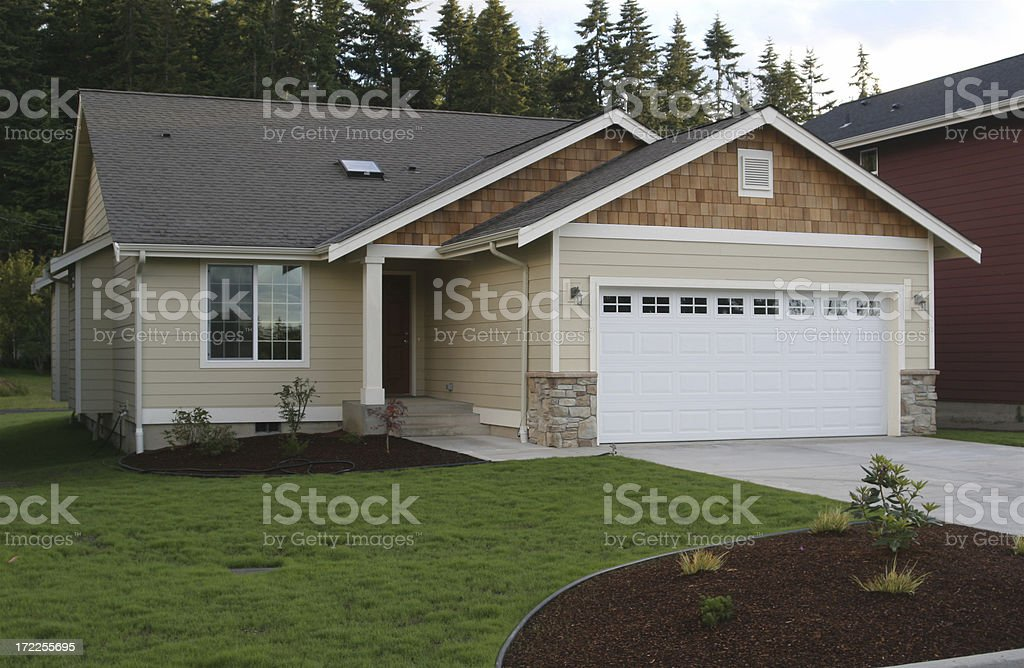 Simple But Modern House Design stock photo