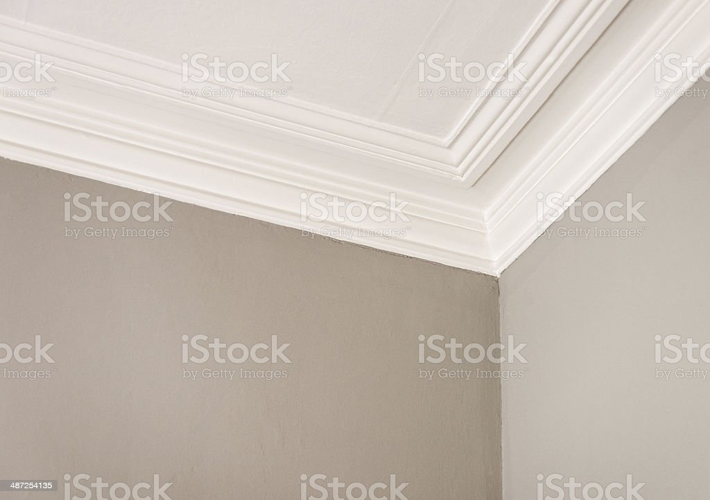 Simple Ceiling Cornice stock photo