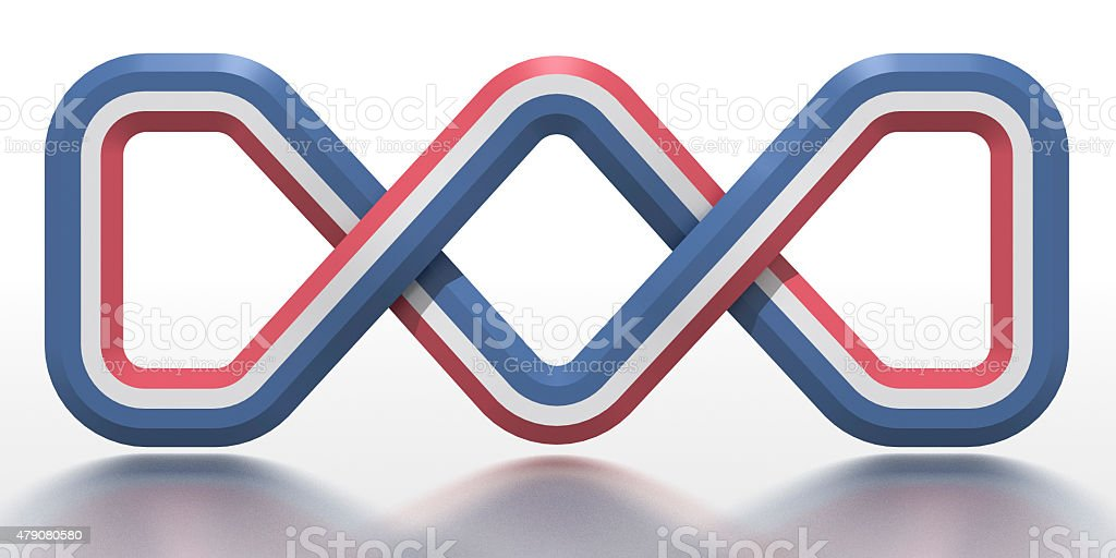 Celtic knot in the national colours of the Netherlands stock photo