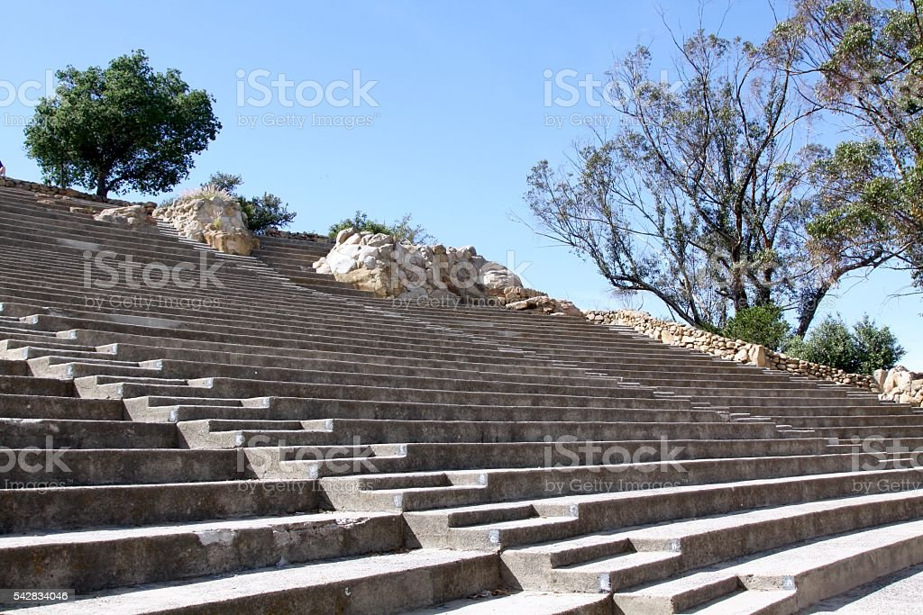 Simple Cement Amphitheater stock photo