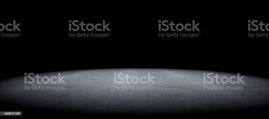 Simple cement floor background between darkness stock photo