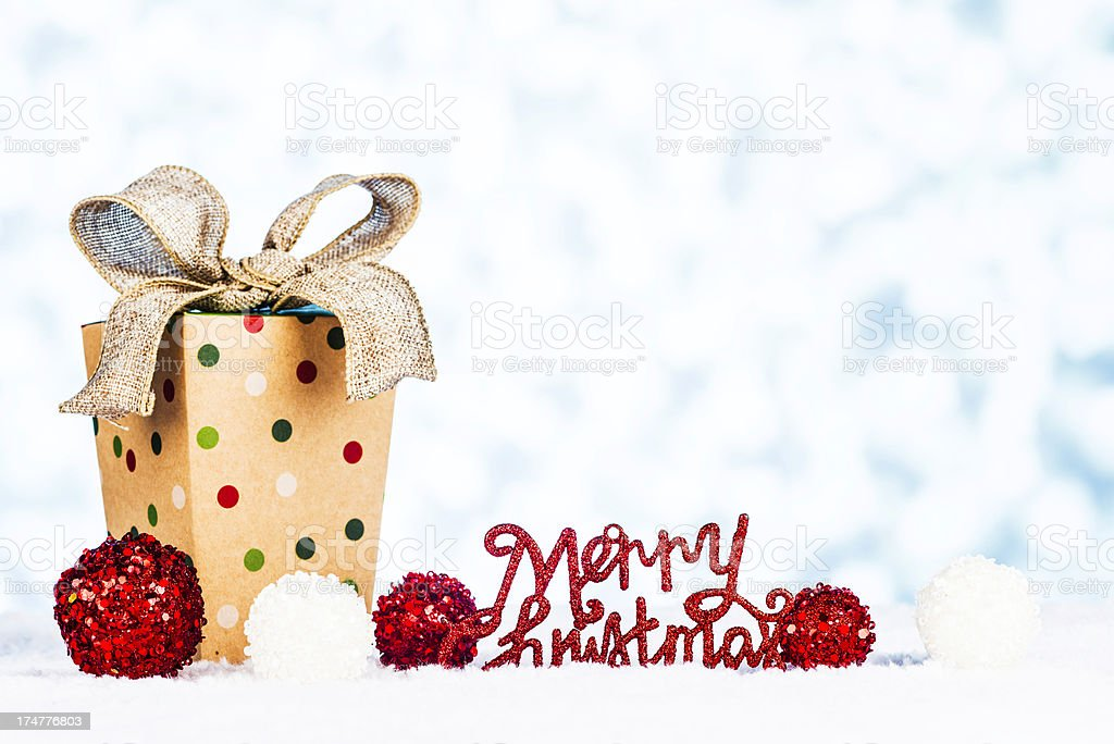 Simple Christmas Message royalty-free stock photo