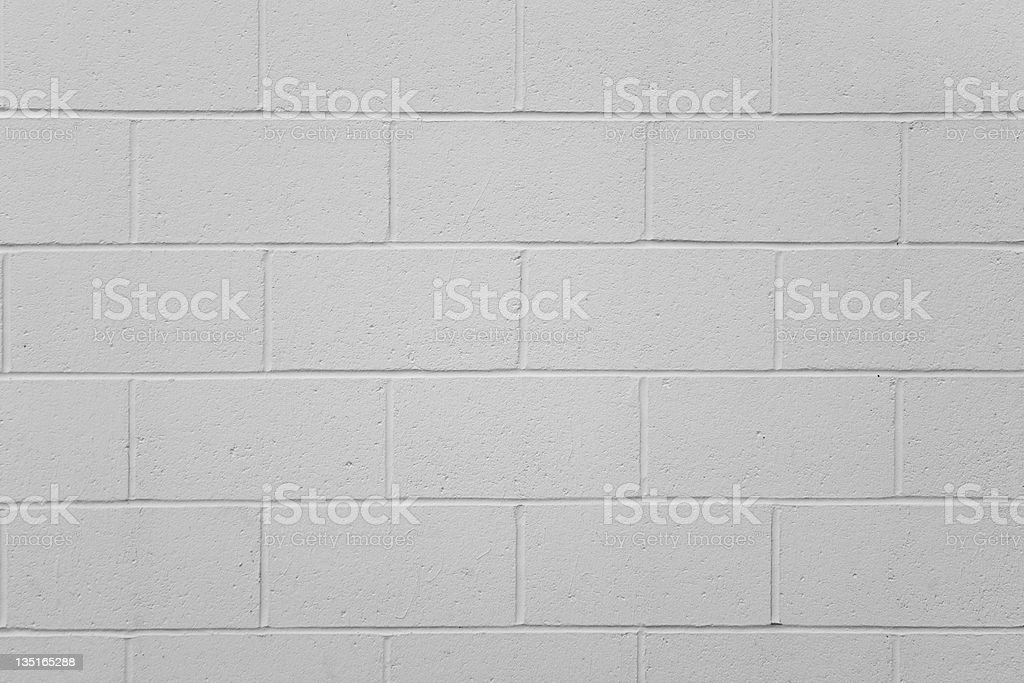 Simple Cinder Block Wall stock photo