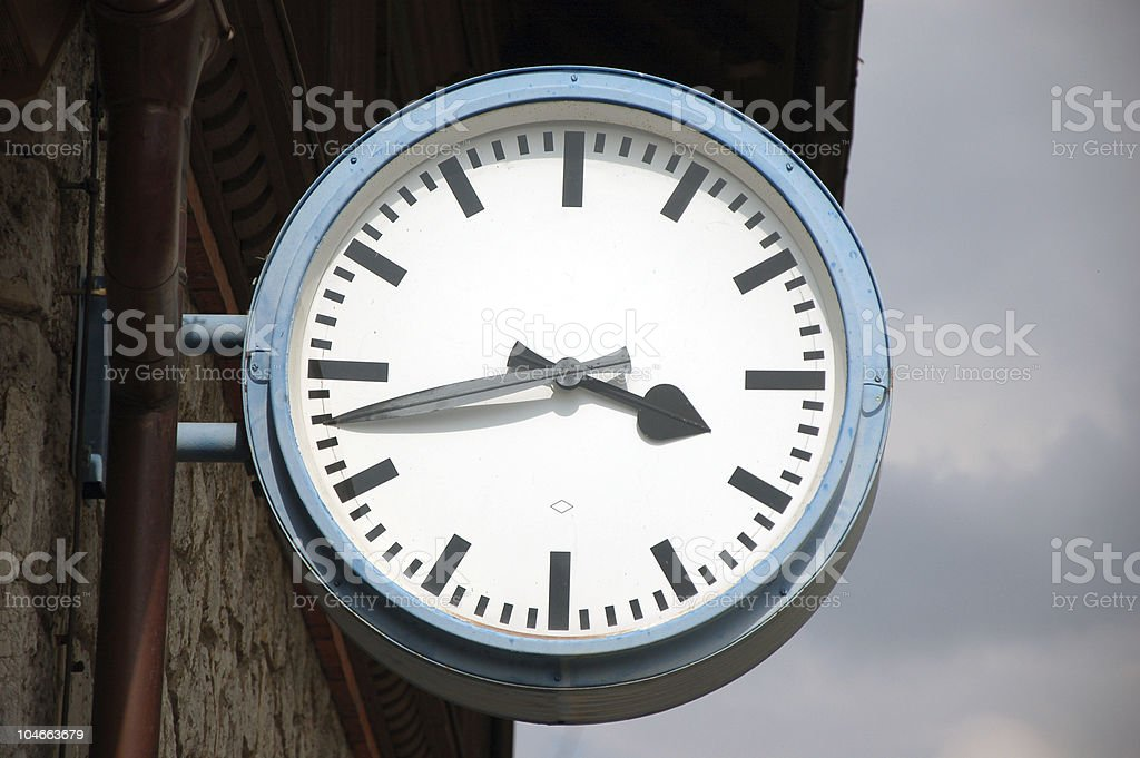 Simple clock stock photo