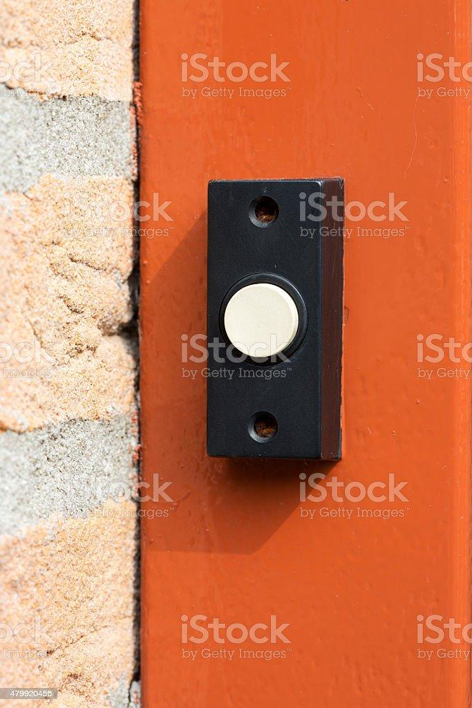 Simple doorbell stock photo