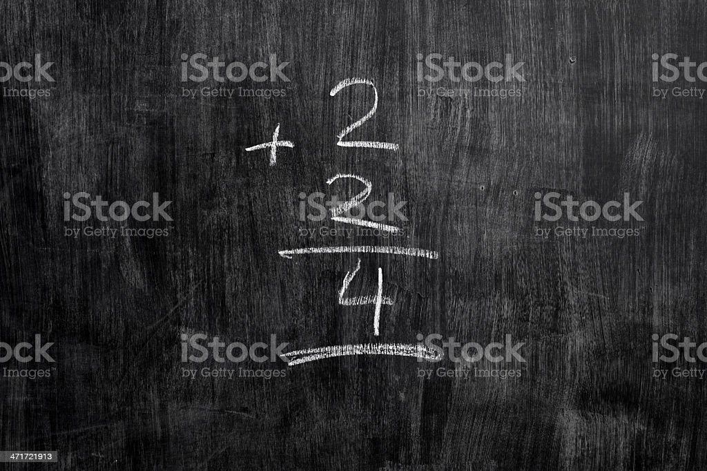 simple equation on blackboard royalty-free stock photo