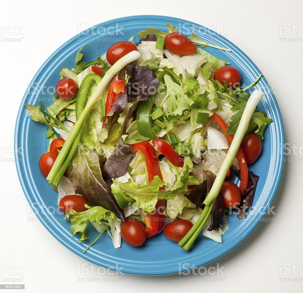 Simple Garden Salad stock photo