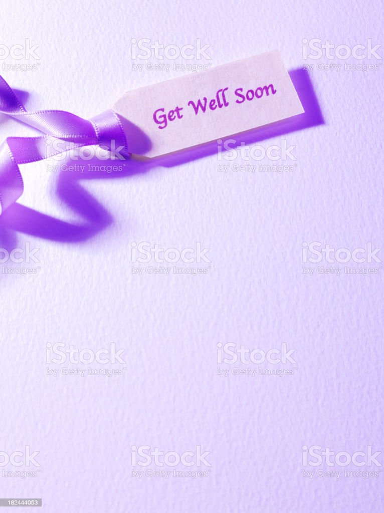 Simple Get Well Label royalty-free stock photo