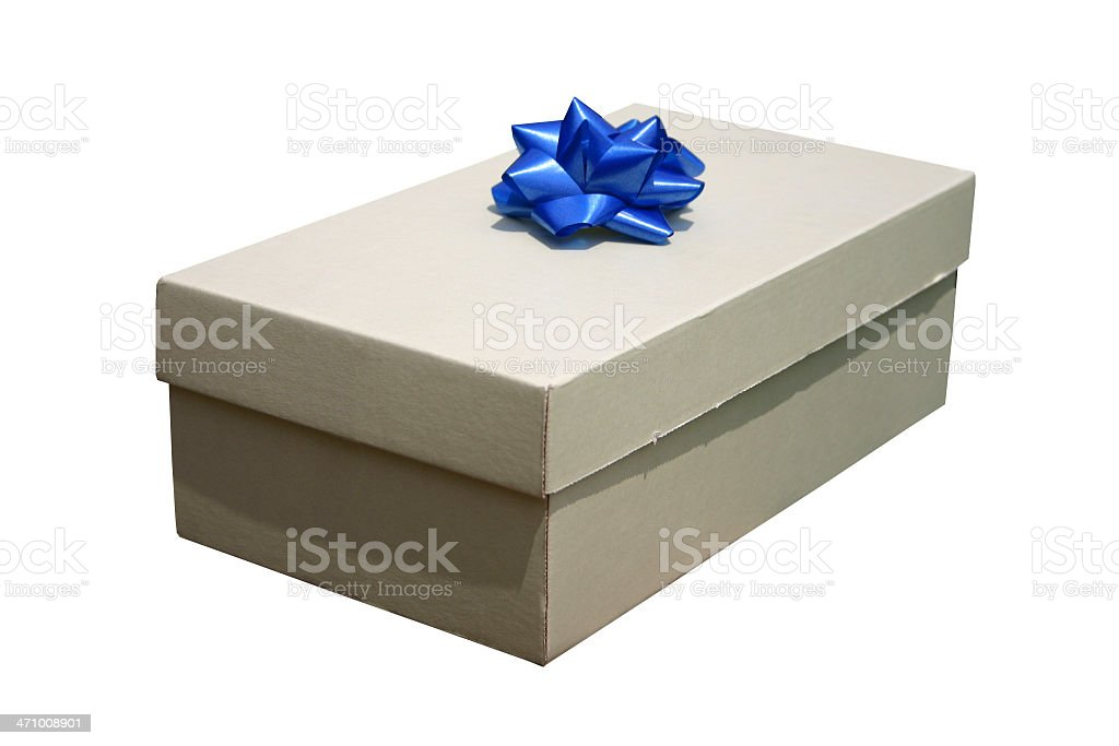 Simple Gift (clipping path) royalty-free stock photo