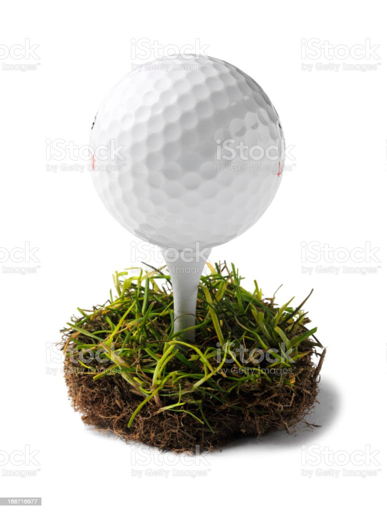 Simple Golf Ball and Tee stock photo
