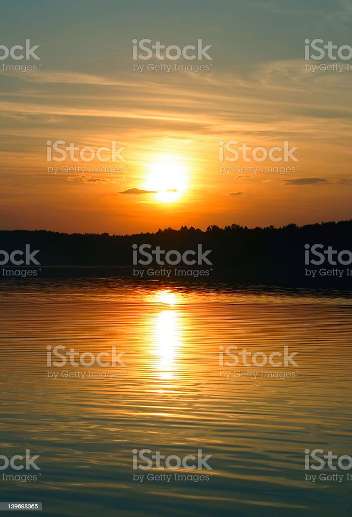simple gorgeous sunset #2 royalty-free stock photo