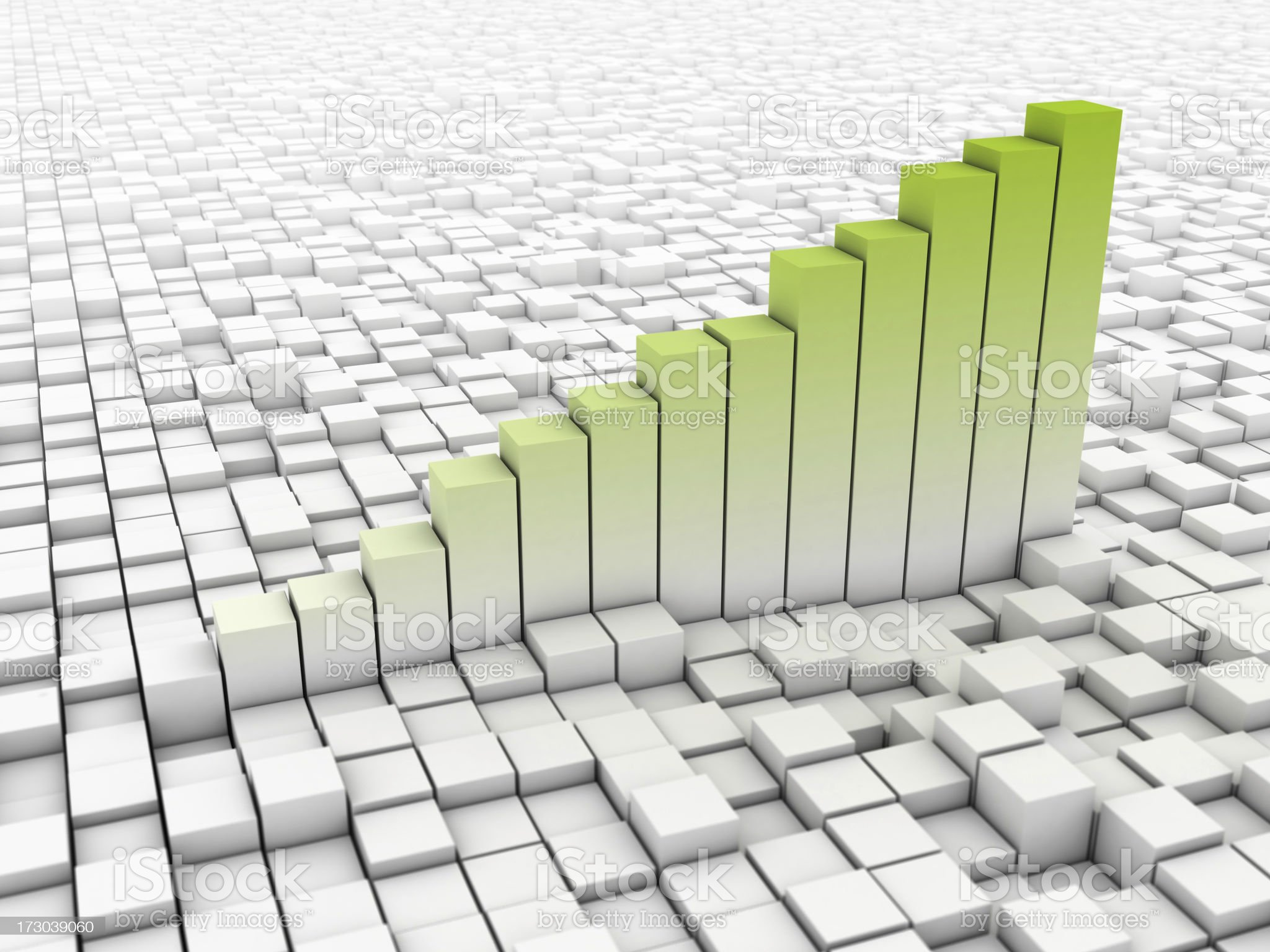 simple graph with blocks background royalty-free stock photo