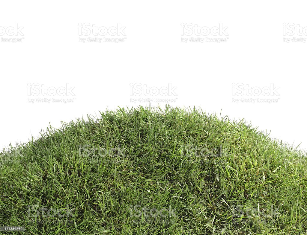 Simple Grassy Hill Cutout stock photo