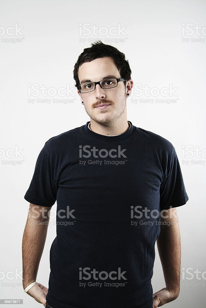 simple guy royalty-free stock photo